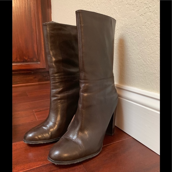 Adrienne Vittadini Shoes - Adrienne Vittadini brown leather boot.